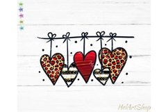 Valentines day png, Leopard Heart PNG Product Image 1