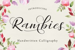 Rambies Script Product Image 1