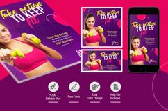 Fitness Social Media Pack Product Image 2