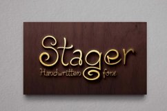 Stager Font Product Image 1