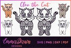 CLEO THE CAT SVG 6 MANDALA / ZENTANGLE DESIGNS Product Image 1