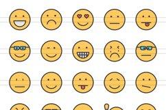 110 Avatars & Emoticons Filled Line Icons Product Image 2