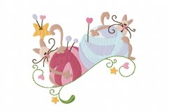 Knitting Kittens 2 Machine Embroidery Design in 3 sizes Product Image 1