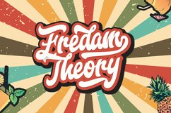 Fredam Theory - Retro Bold Script Font Product Image 1