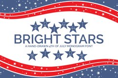 Bright Stars - A Hand-Drawn 4th of July Monogram Font Product Image 1