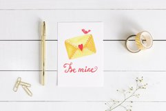 Valentines Day cliparts, pink and gold love graphics Product Image 2