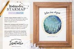 Watercolor StarMap Poster Creator Product Image 6