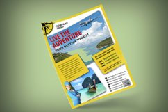 TOURISM FLYER TEMPLATE | Photoshop | Travel | Flying Product Image 2