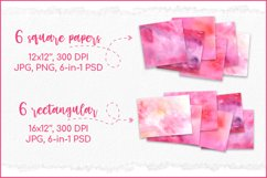 Watercolor Background Pink, Sublimation Watercolor Textures Product Image 2