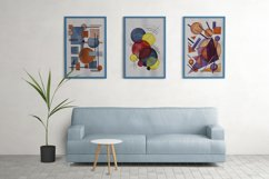 Hand painted Abstract Simple Geometric Forms Composition Product Image 5