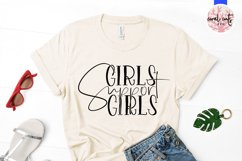 Girls Support Girls - Women Empowerment EPS SVG DXF PNG Product Image 2