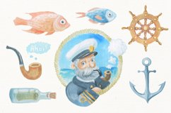 Nautical watercolor clipart collection Product Image 2