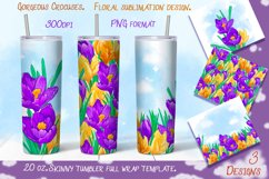 Gorgeous crocuses. Tumbler sublimation design. Product Image 1