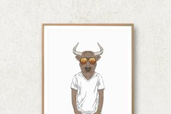 Hipster Wall Art, Funny Animal Prints, Hipster Animals Product Image 3