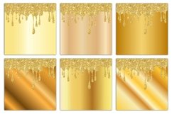 Gold Drips Digital Paper Product Image 4