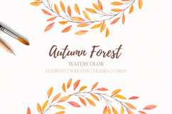 Autumn forest   Watercolor   Fall Product Image 1