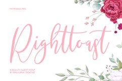 Righttoast Beauty Script Font Product Image 1