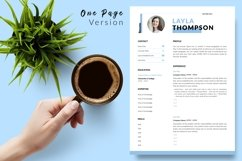 Simple Resume CV Template for Word & Pages Layla Thompson Product Image 2