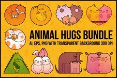 Animal Hugs Bundle - Illustrations and patterns Product Image 1