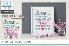 Wedding SVG - Because Someone We Love Is In Heaven Product Image 1