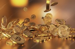 6  files - 3D rendering Bitcoins falling on a pile Product Image 4