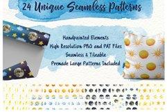 Sky Wonder, Watercolor Clip Art Set! Patterns, Backgrounds! Product Image 3