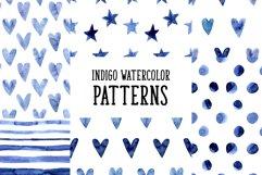Indigo Blue Watercolor Patterns Product Image 1