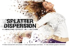Splatter Dispersion Photoshop Action Product Image 1