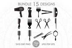Hair stylist SVG, Hair Dresser, hair styling clip art Product Image 1