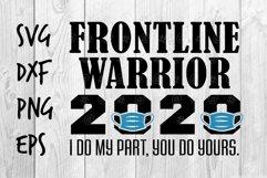 Frontline Warrior 2020 SVG design Product Image 1