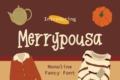 Web Font Merrypousa - Monoline Fancy Font Product Image 1