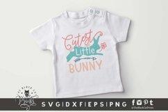 Cutest Little Bunny SVG | Easter Bunny SVG | Kids Easter SVG Product Image 3