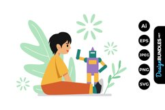 Little Boy Me Time Illustrations Product Image 1