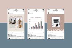"Canva Instagram Templates ""NUDE"". Social Media Bundle Product Image 5"
