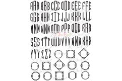 Exclusive Clubhouse Monogram Font SVG & DXF Cut File Product Image 2