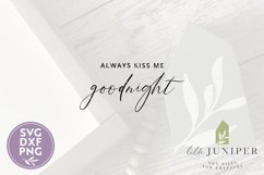 Always Kiss Me Goodnight SVG, Wood Sign SVG, Farmhouse SVG Product Image 2