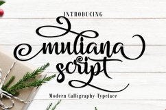 Muliana Script Font Product Image 1