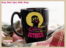 Black queens are born in October birthday t shirt design Product Image 2
