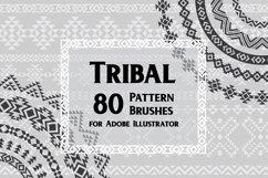 80 Tribal Pattern Brushes for Adobe Illustrator Product Image 1