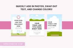 40 Pinterest Canva Templates with Pink Blush and Gray Theme Product Image 3