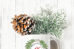 Christmas Holiday Wreath Designs with Gnomes and Mice Product Image 3