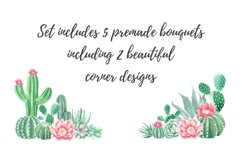 Watercolor Cactus and Succulents Collection Product Image 2