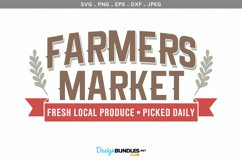 Farmers Market Fresh Local Produce - svg & printable Product Image 2