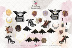 Halloween PNG Spooky Girls Gothic Clipart | Drawberry CP013 Product Image 2