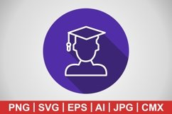 Vector Male Student Icon Product Image 1
