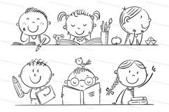 Cartoon kids in the classroom Product Image 2