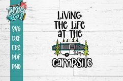 Living Life At the Campsite Pop Up SVG Product Image 2