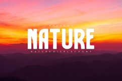 Nature Font Product Image 1