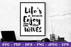 Life's a beach enjoy the waves SVG cut file Product Image 1