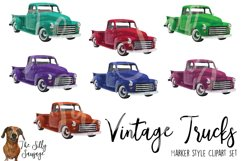 Vintage Trucks Marker Style Clipart Product Image 2